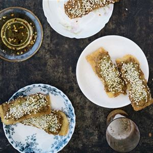 Sesame Prawn Toast with Sweet Chilli Sauce - Chef Recipe by Curtis Stone