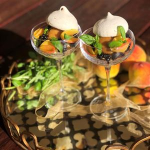 Christmas Peach Sundae - Chef Recipe by Larissa Takchi