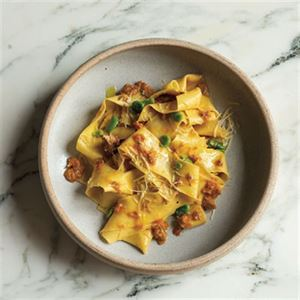 Pappardelle with Broad Beans and Pork Ragu - Chef Recipe by Matthew Evans
