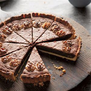 Walnut, Chocolate and Whisky Tart - Chef Recipe by Matthew Evans