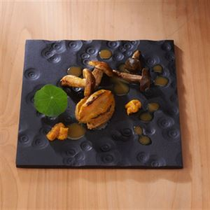 Abalone and Shimeji Mushrooms with Salted Sea Urchin