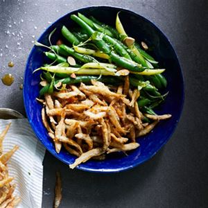 Green Beans and Crispy Whitebait, Honey and Fish Sauce - Chef Recipe by George Calombaris
