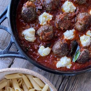 Lamb Meatballs with Pasta and Ricotta - Chef Recipe by Darren Robertson