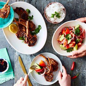 Angie Hong's Grilled Marinated Lamb Chops