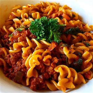 Spicy Turkey Bolognese with Red Lentil Pasta - Recipe by Alison Wright