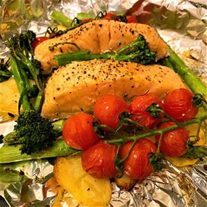 Lemon and Asparagus Salmon Tray Bake - Recipe by Alison Wright
