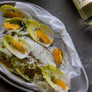 Roasted Fish with Orange and Fennel Salad - Chef Recipe by Ben Devlin