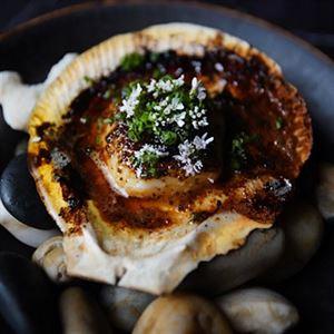 Akaiito Robata Scallops - Chef Recipe by Winston Zhang
