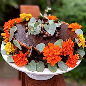 Nature Themed Easter Dark Chocolate Mud Cake - Chef Recipe by Lisa Mead