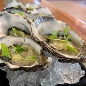 Oysters with Horseradish Relish and Celery - Chef Recipe by Matt Golinski