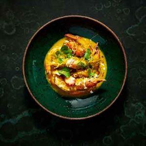 Smashed Prawn, Turmeric, Coconut and Betel Leaf - Chef Recipe by Scott Pickett
