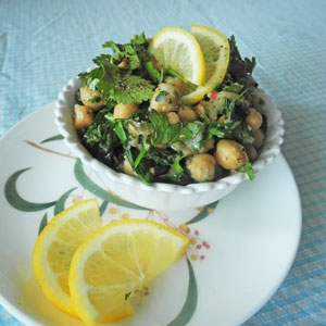 Warm Chickpea, Herb and Rocket Salad