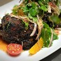 Grilled Beef Ribs with Orange, Mint & Cherry Tomato Salad
