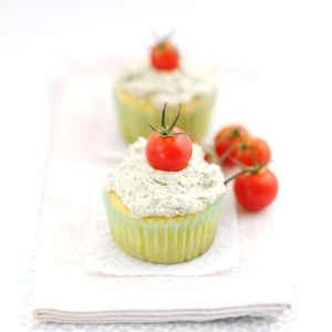 Basil Pesto Cupcakes