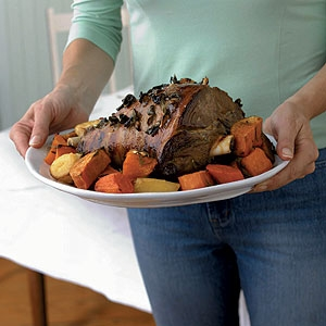 Honey & Oregano Roasted Leg of Lamb with Vegetable Roasties