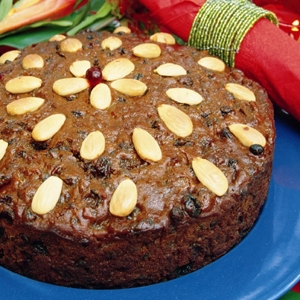 Light Tropical Christmas Cake
