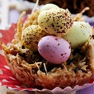 White Chocolate Easter Nests