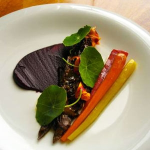 Wagyu Oxtail, Hairloom Carrots, Pickles & Nasturtium
