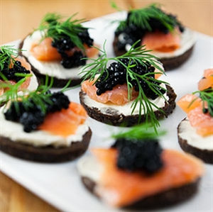 Salmon and Caviar Appetisers