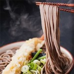 Buckwheat Soba Noodles with Tempura Prawns
