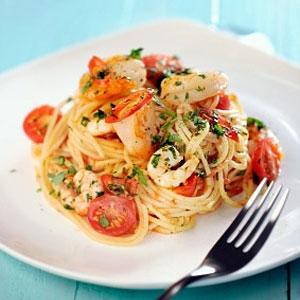Recipes prawns pasta