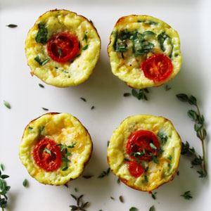 Cheese and Spinach Mini Quiche