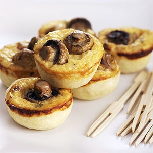 Mini Mushroom, Bacon and Cheese Quiches