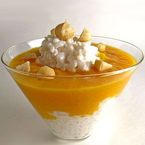 Mango and Coconut Rice Pudding