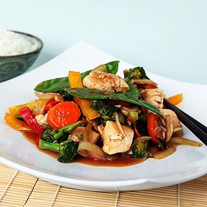 Chicken Basil Stir Fry