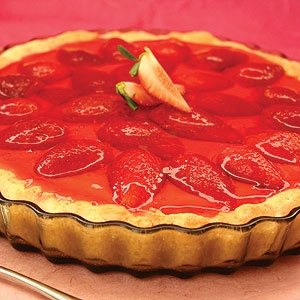 Strawberry Custard Flan