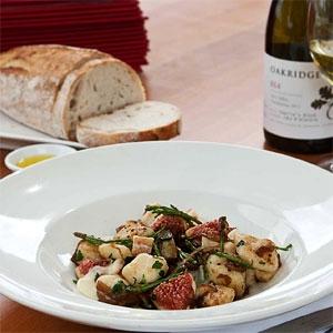 Oakridge Gnocchi with Local Figs, Snowy River Samphire, Caramelised Onion and Taleggio