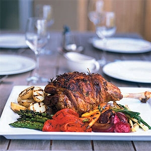 Matt Moran's Roast Lamb with Preserved Lemon and Chargrilled Vegetables