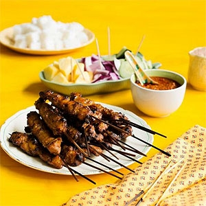 Poh's Chicken or Beef Satay with Homemade Peanut Sauce