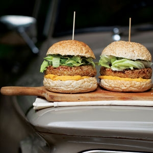 Millet Burgers with Miso and Pumpkin Sauce