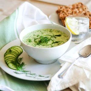Cucumber Soup with Prawns