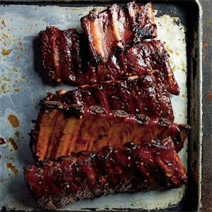 Sticky Smoky Pork Ribs