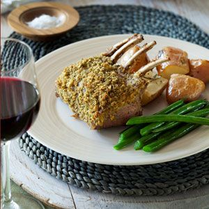Lamb Rack with Macadamia and Herb Crust