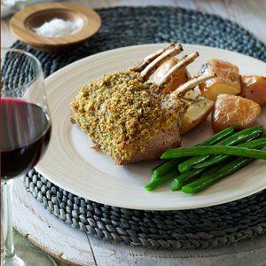 Lamb Rack with Macadamia and Herb Crust
