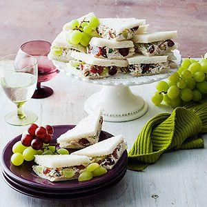 Chicken & Grape Party Sandwiches