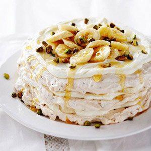 Banana Cream Pavlova