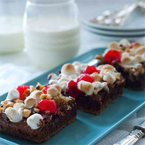Cherry S'more Brownies