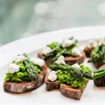 Asparagus and Crushed Peas on Toast