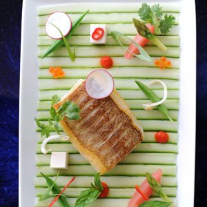 Steamed Coral Trout