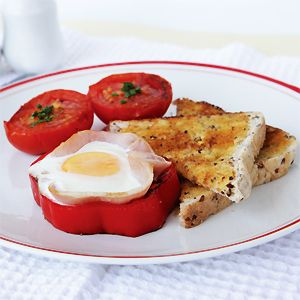 Egg and Bacon Capsicum Cups