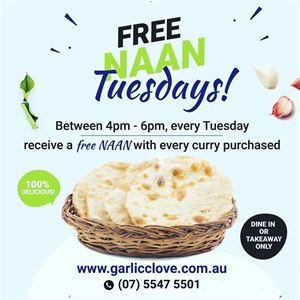 Free Naan Tuesday