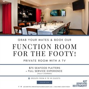 Function room for the Footy!
