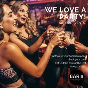 Book your next function at Bar 11
